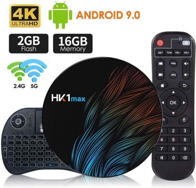 Android 9.0 TV Box 【2G+16G】con Mini Teclado inalámbirco RK3318